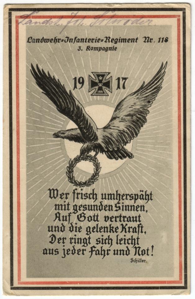 Landw. Inf. Reg. 118 - Carte régimentaire