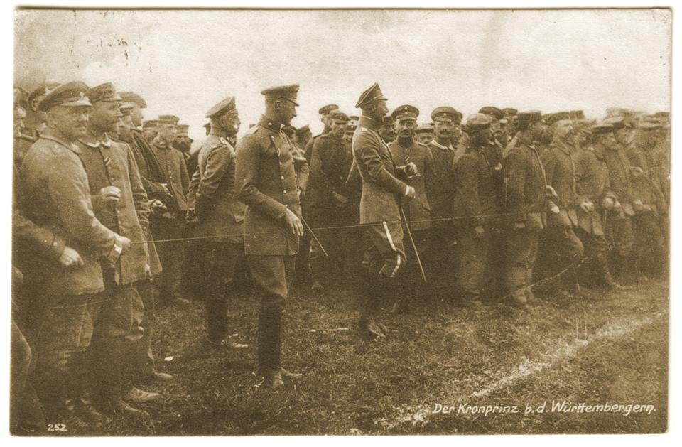 Le Kronprinz lors d'une fête organisée par les würtembourgeois