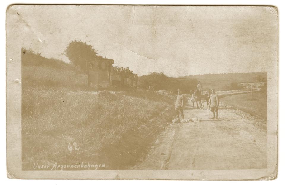 Transport de troupes sur l'Argonnenbahn