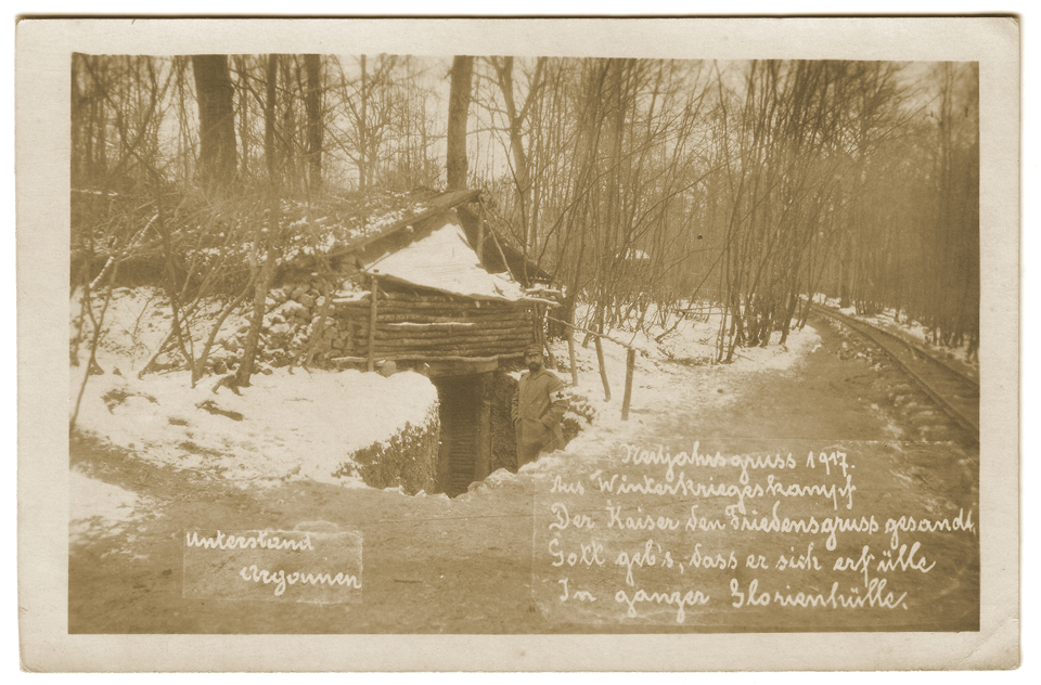 Poste de secours allemand - Hiver 1916/1917