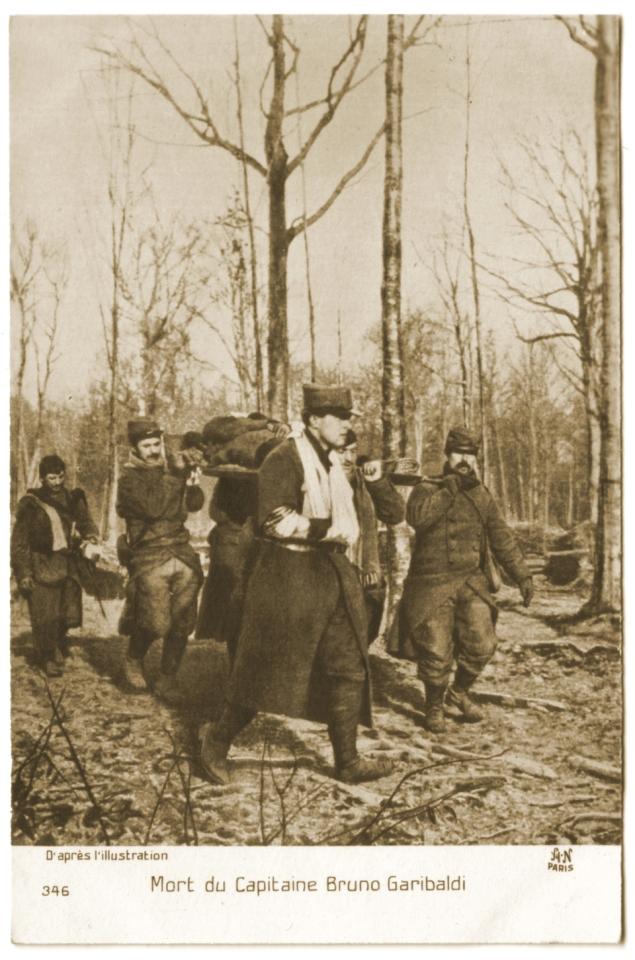 "Mort du Capitaine Bruno Garibaldi de la ""Légion Garibaldienne"""