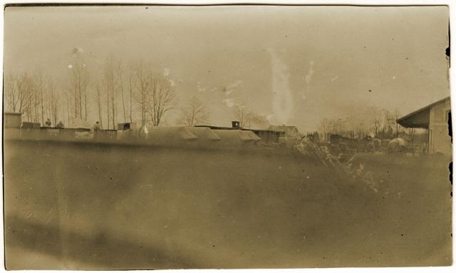 Vue de la gare de Clermont-en-Argonne en juillet 1916