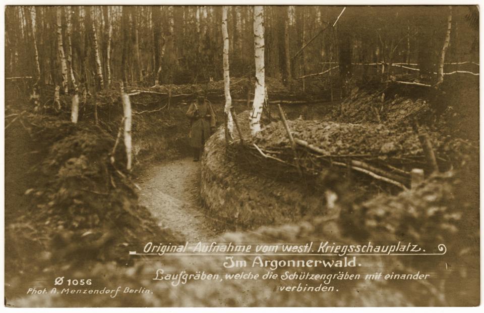 Tranchée allemande en Argonne