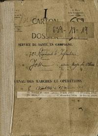 JMO Service Santé 72ème Régiment d'Infanterie