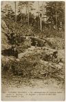 Les allemands dans les tranchées individuelles en Argonne