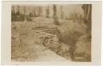 Soldat allemand dans sa tranchée en Argonne
