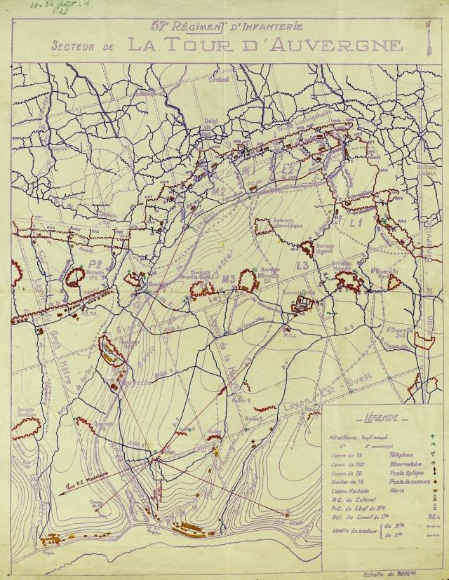 Le secteur de la Tour d'Auvergne occupé par le 57ème R.I. - 29-30 août 1916
